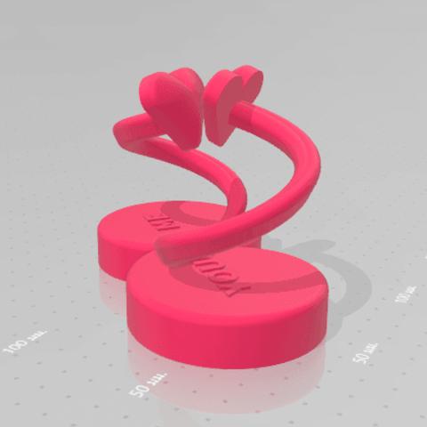 Impresiones 3D AMOR INFINITO, Tum