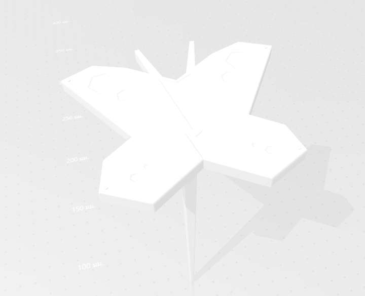 2020-05-03_161446.png Download STL file Butterfly for Garden • 3D print design, Tum