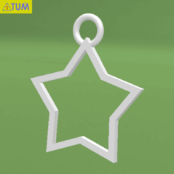 2020-01-29_154952.png Download STL file Star • 3D print template, Tum