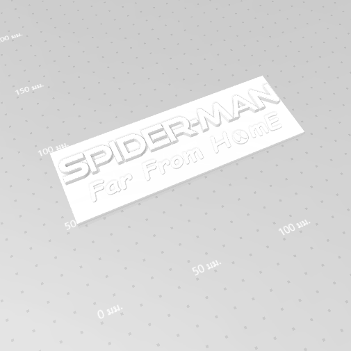 2019-07-06_165050.png Download free STL file Spider Man (Far From Home) Logo Plate • 3D printable template, Tum