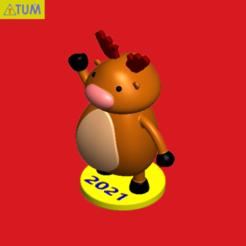 2020-11-29_153759a.png Télécharger fichier STL Renne • Plan pour impression 3D, Tum