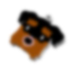 Fichier STL KEYCHAIN Mr. Chien No.5, Tum
