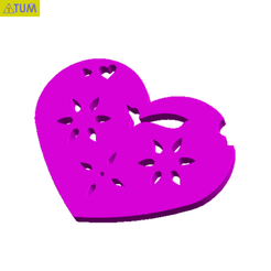 Download free 3D printing files Heart Plate Symbol No.3, Tum