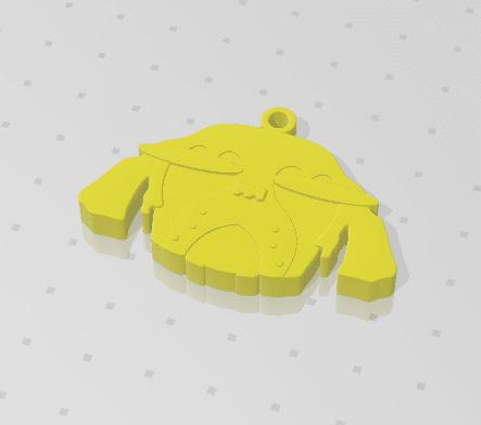 2019-01-13_223906.png Download free STL file KEYCHAIN Mr. Dog  • 3D printable model, Tum
