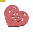 Free 3D model Heart Plate Symbol No.14, Tum