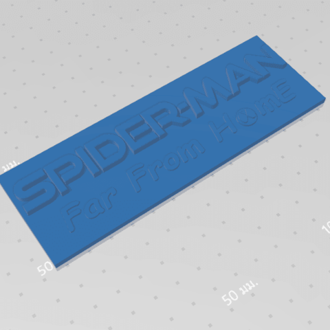 2019-07-06_155609.png Download free STL file Spider Man (Far From Home) Logo Plate • 3D printable template, Tum