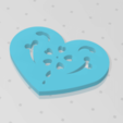 Télécharger fichier imprimante 3D gratuit Plaque Coeur Symbole No.14, Tum