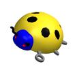 Download 3D printer templates KEYCHAIN The Lady Bird No.2, Tum