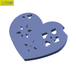 Download free 3D model Heart Plate Symbol No.5, Tum