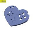 Télécharger fichier imprimante 3D gratuit Plaque Coeur Symbole No.5, Tum