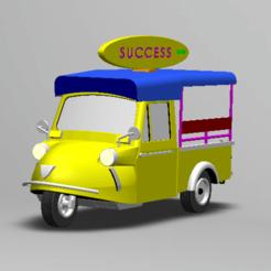 """STL file TUK TUK 3 WHEEL FROG CAR """"SUCCESS"""", Tum"""