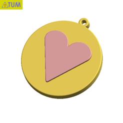 Descargar archivo 3D KEYCHAIN Amor, Tum