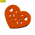 Download free 3D printer model Heart Plate Symbol No.7, Tum
