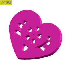 Download free STL files Heart Plate Symbol No.11, Tum