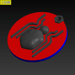 2019-02-10_205335.png Download free STL file KEYCHAIN Spidy • 3D printer model, Tum