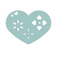 Download free 3D printing templates Heart Plate Symbol No.1, Tum