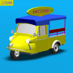 "2020-12-04_162558.png Download STL file TUK TUK 3 WHEEL FROG CAR ""SUCCESS"" • 3D print design, Tum"