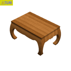 2020-11-27_162054.png Download STL file Vintage Table Thai Style • 3D printer model, Tum