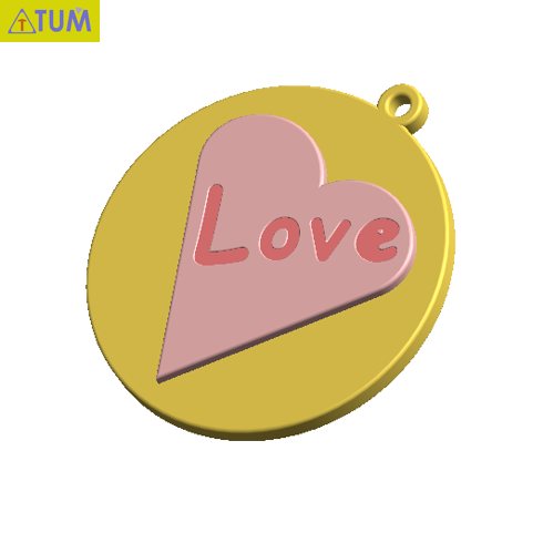 2019-07-25_172158.png Download STL file KEYCHAIN LOVE • 3D print template, Tum