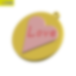 Key Chain Love 05.STL Download STL file KEYCHAIN LOVE • 3D print template, Tum