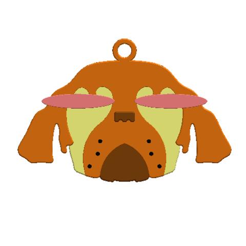 2019-01-13_223006.png Download free STL file KEYCHAIN Mr. Dog  • 3D printable model, Tum