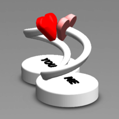 Download 3D printing models INFINITY LOVE, Tum