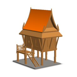 3d printer model Thai House, Tum