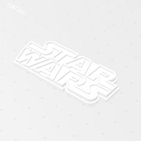 2019-07-28_143048.png Download free STL file STARWARS LOGO PLATE • Template to 3D print, Tum