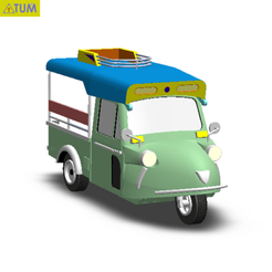 2019-02-12_165359.png Download STL file TUK TUK 3 WHEEL FROG CAR • 3D printable design, Tum