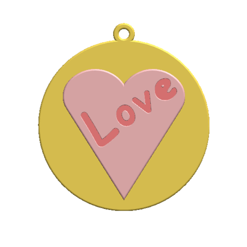 2019-07-25_171102.png Download STL file KEYCHAIN LOVE • 3D print template, Tum