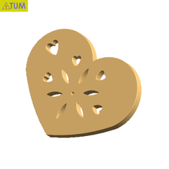 Download free STL files Heart Plate Symbol No.8, Tum
