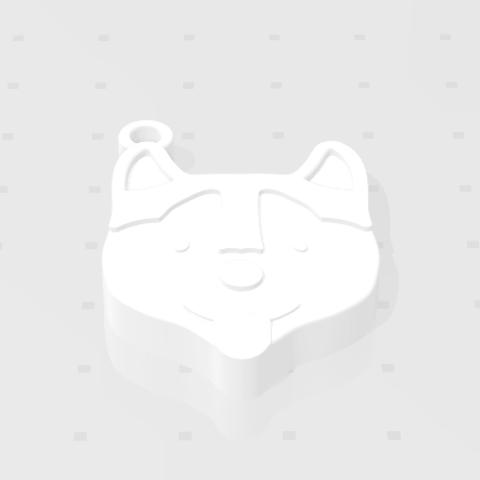 2019-07-25_145312.png Download STL file KEYCHAIN Mr. Dog No.2 • 3D printable design, Tum