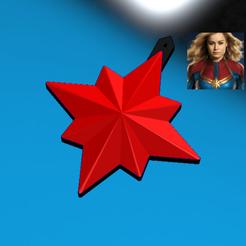 Free STL file KEYCHAIN Captain Marvel 2019 Symbol, Tum