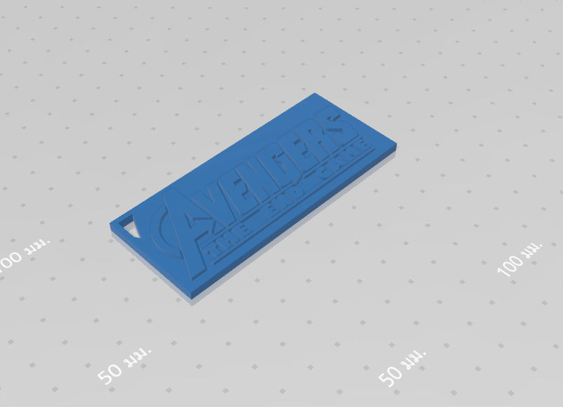 2019-08-03_123959.png Download free STL file KEYCHAIN AVENGERS SYMBOL No.2 (THE END GAME) • 3D printer model, Tum