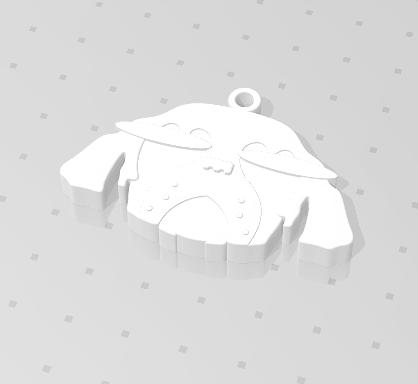 2019-01-13_223843.png Download free STL file KEYCHAIN Mr. Dog  • 3D printable model, Tum
