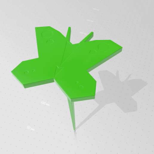 2020-05-03_161800.png Download STL file Butterfly for Garden • 3D print design, Tum