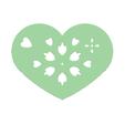 Download free 3D printer files Heart Plate Symbol No.9, Tum
