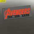 Download free STL KEYCHAIN AVENGERS SYMBOL No.2 (THE END GAME), Tum