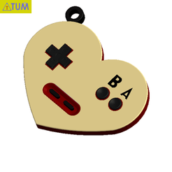 2019-07-27_165011.png Download STL file KEYCHAIN The Game of Love • 3D printing model, Tum