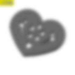 Download free 3D printer model Heart Plate Symbol No.10, Tum