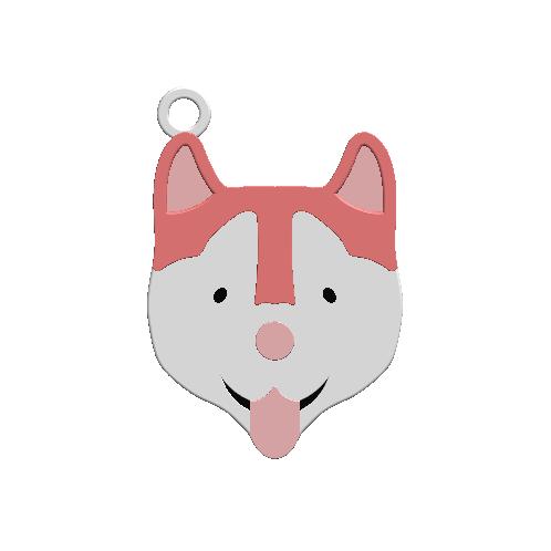 2019-07-25_144335.png Download STL file KEYCHAIN Mr. Dog No.2 • 3D printable design, Tum