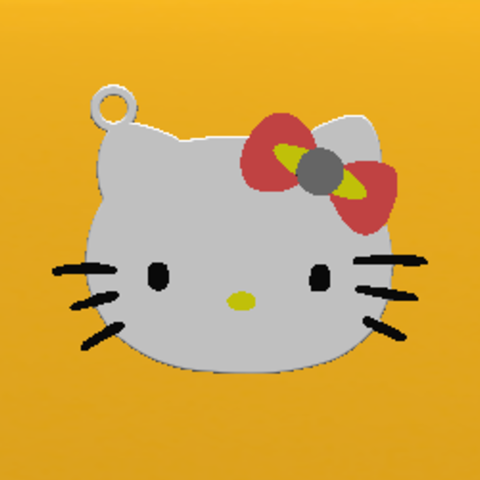 2018-10-06_165736.png Download free STL file KEYCHAIN Kitty • 3D printable template, Tum