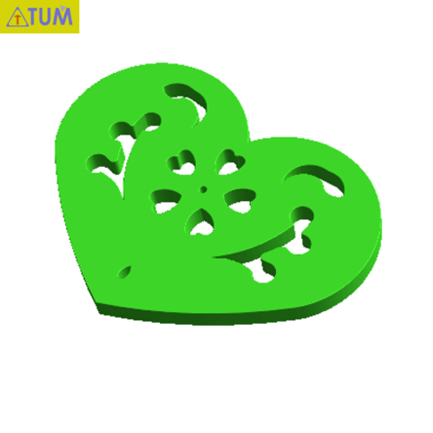 Download free STL file Heart Plate Symbol No.13, Tum