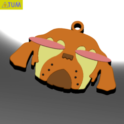 Download free STL file KEYCHAIN Mr. Dog  • 3D printable model, Tum