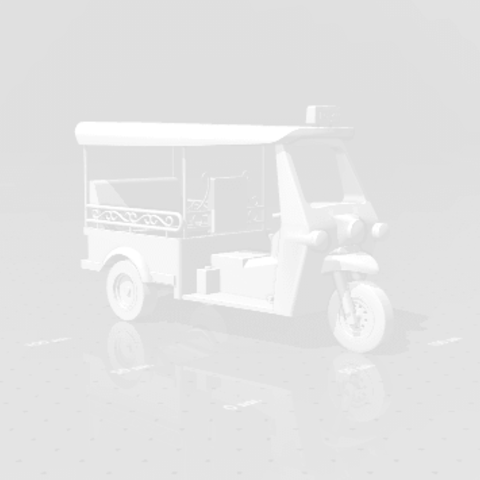 2019-03-05_000132.png Download STL file TUK TUK 3 WHEEL CAR THAILAND No.1 • 3D printable model, Tum