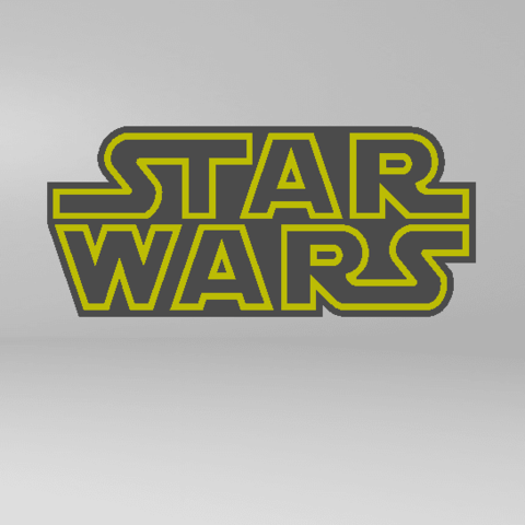 2019-07-27_173140.png Download free STL file STARWARS LOGO PLATE • Template to 3D print, Tum