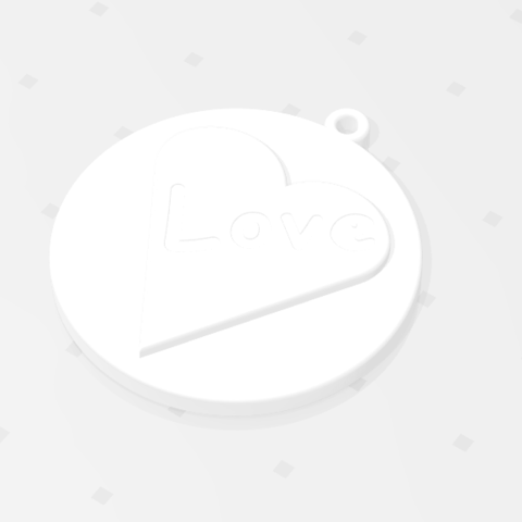 2019-07-26_121703.png Download STL file KEYCHAIN LOVE • 3D print template, Tum
