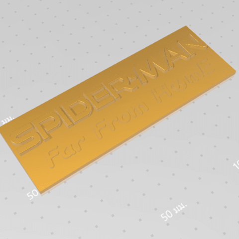 2019-07-06_155919.png Download free STL file Spider Man (Far From Home) Logo Plate • 3D printable template, Tum