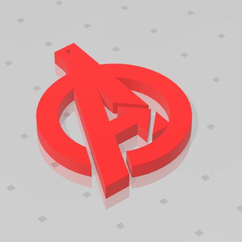 2019-07-13_165231.png Download free STL file KEYCHAIN AVENGERS SYMBOL • 3D print design, Tum