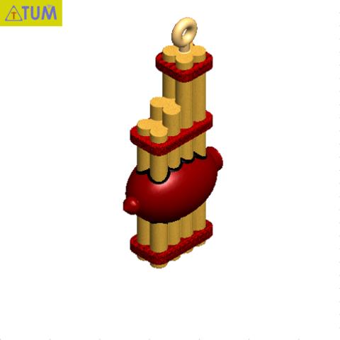 """Descargar modelo 3D LLAVE """"CAN""""., Tum"""